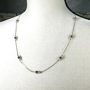 Jewelry - AVON Floating Gray White Faux Pearl Necklace